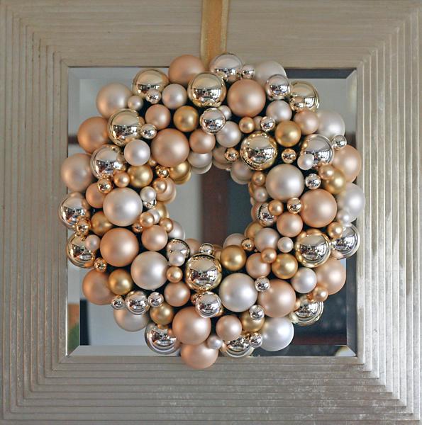 Christmas Ornament Wreath Living Artfully