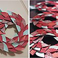 christmas paper wreath