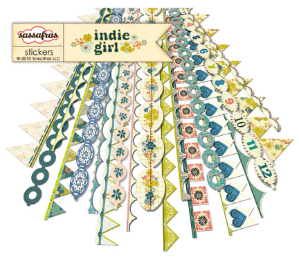 Sassafras_indie girl sticker strips