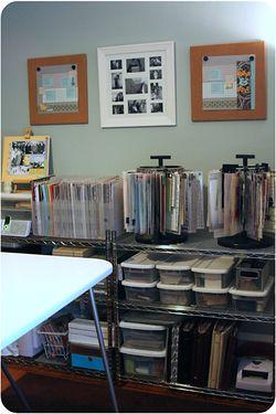new scrapbooking shelf - living artfully
