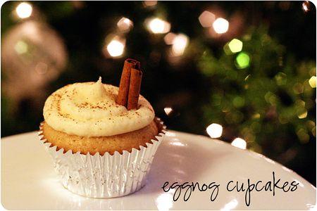 Eggnog cupcakes 1