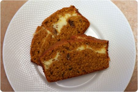 Pumpkin cream cheese bread slices