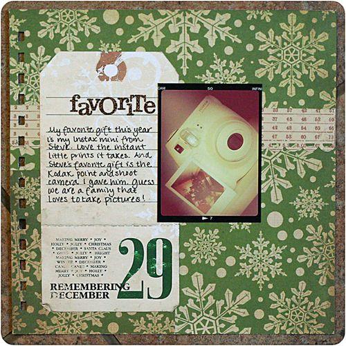 december 29: favorite gifts