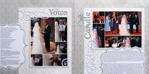 vows & unity candle